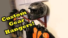 Created Custom Motorcycle Gear Display/Stand