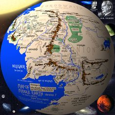 Middle Earth on a Globe - WANT!