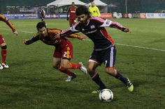 Juan Toja moves the ball forward vs. Real Salt Lake, Feb. 20, 2013