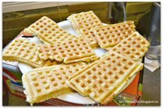 Make a large batch of waffles ahead of time and freeze.  Kids can just toast them on the run. Make ahead healthy breakfasts.