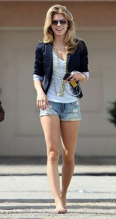 just in case i would love to wear blazer one of these days Short Outfits, Spring Outfits, Casual Outfits, Fashion Outfits, Cute Outfits, Look Blazer, Blazer And Shorts, Jean Shorts, Clothing For Tall Women