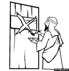 Jødedommen - Door Markings Coloring Page | Free Door Markings Online Coloring
