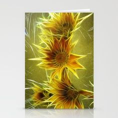 Daisy Daisy Stationery Cards by F Photography and Digital Art - $12.00