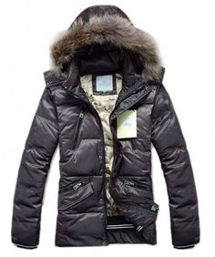 53ad4231fef Moncler Top Quality Down Jackets For Men Multi Zip Style Coffee Cheap Moncler  Jackets Outlet Store