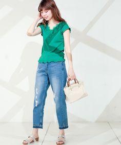 9822b6ad8cfc6 natural couture(ナチュラルクチュール)の「ワイドリブレースT(Tシャツ・カットソー