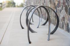 35 Collection Loop Bike Rack #landscapeforms #sitefurniture #outdoorfurniture #landscapearchitect  #bikerack