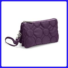 Thirty One Vary You Wristlet in Plum Quilted Dots - No Monogram - 4241 - Wristlets (*Amazon Partner-Link)