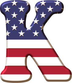 Alfabeto con la Bandera de USA Scrapbook Letters, Banner Letters, Monogram Letters, Letter Symbols, Alphabet And Numbers, Alphabet Letters, Alphabet Soup, Printable Letters, Holiday Fonts