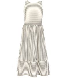 a034924699 GB Girls Big Girls 7-16 Pleated Striped Midi Dress