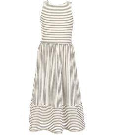 aa7ec0a9ea2 GB Girls Big Girls 7-16 Pleated Striped Midi Dress Striped Midi Dress