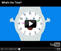 Youtube video on telling time, plus recycling, weather and history video links