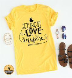 (afflink) Cute Teach, Love, Inspire teacher shirt.