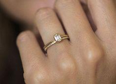 Schön :-) Diamant Ring Engagement Smaragd Diamond Engagement von MinimalVS