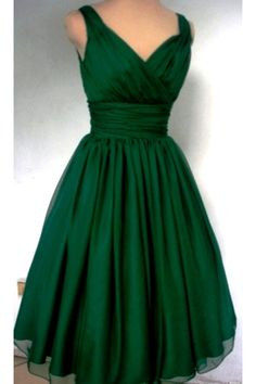 Possible dress for Dixieland jazz festival big band dancing- love the elegant color and 50s style- by Lawrence Aitken on etsy