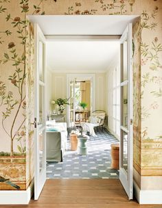 Wallpaper and sunroom