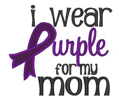 I wear Purple for my applique and embroidery by PerfectPretties, $5.00