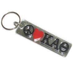 Kappa Alpha Theta Sorority Peace Love Keychain