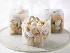 Wedding Day Chex® Mix--switch out the almonds for Valentine mix peanut M's and I am all over this!