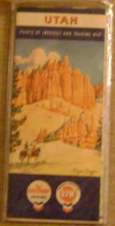 60's road map of Utah by theevintageshop on Etsy, $9.95 nice Xmas gift for under 10.00