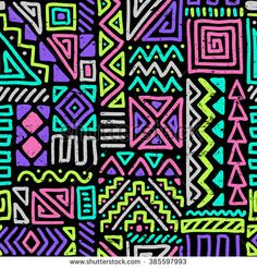 vector seamless pattern with abstract lines. geometric art print. fashion 80s-90s. memphis style design. ethnic hipster backdrop. Wallpaper, cloth design, fabric, paper, cover, textile. hand drawn. - stock vector