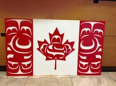 Firat nation version of Canadian flag. Indigenous People Of Canada, Indigenous Peoples Day, Indigenous Art, Native Indian, Native Art, Native American Art, British Columbia, I Am Canadian, History