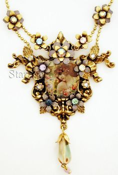 Michal Negrin Vintage Style Starlet Cameo Necklace | eBay