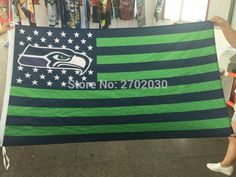 #SEATTLE #FLAG #WITH #AMERICAN #NATIONAL #FLAG #BACKGROUND #GREEN #BANNER #90*150CM #POLYSTER #BANNERS #US #SEATTLE #BANNER #FLAG