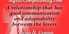 The fact that both are intellectuals implies that this could be a stable Virgo and Gemini compatibility in the long run. Virgo Compatibility, All About Virgo, Gemini And Virgo, Good Communication, How To Run Longer, Mystic, Zodiac Signs, Relationship, Star Constellations