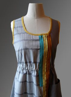 mixed media dress zwei size small by cristinapires on Etsy, €80.00