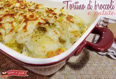 tortino di broccoli e patate mozzarella e besciamella ricetta gustosa