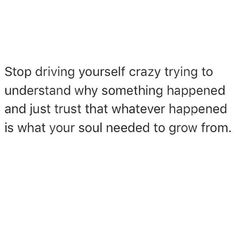 Stop driving yourself crazy