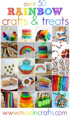 Over 50 Rainbow Crafts and Treats - Mad in Crafts