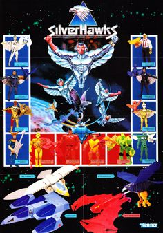 Silverhawks action figures vintage advertising - Masters of the 80's