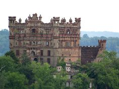 Bannerman Castle, Bannerman Island, New York--A Scottish immigrant, Francis Bannerman purchased the island in 1900 and built a castle to advertise his military surplus business. Two years after Bannerman's death in 1918, 200 tons of ammunition shells and powder exploded, destroying a small part of the structure. Then in 1969, a fire destroyed the floors and roofs as well. The island is vacant, uninhabited since 1950, after the only ferryboat that serviced the island sank in a storm