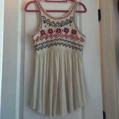 Free People You can wear this as a short dress or shirt! Only worn once Free People Tops