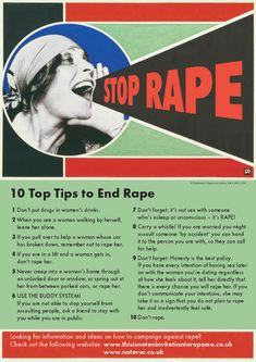 A great tongue-in-cheek PSA putting the responsibility of ending rape in the hands of those who are actually responsible for it!