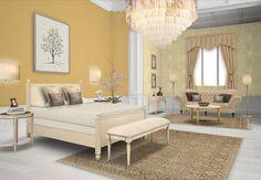 Classy calming , master bedroom