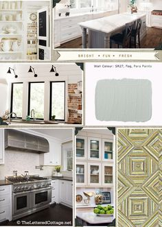 This is my dream re-do.  Love the plank walls, never would have thought of that color but I love it!