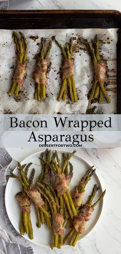 Bacon wrapped asparagus that are perfect for a snack or dinner side dish, or even at an appetizer party. Such a delicious asparagus recipe for spring or summer! Potluck Recipes, Spring Recipes, Side Dish Recipes, Healthy Dinner Recipes, Healthy Snacks, Snack Recipes, Whole 30 Snacks, Whole 30 Recipes, Dinner Side Dishes