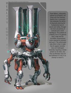 ArtStation - Reality Core AI robot, Yann Blomquist