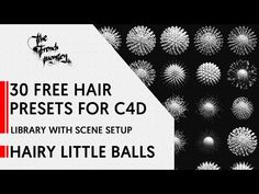HLB Pack // FREE // 30 Hair Presets for C4D // Library with Scene Setup - YouTube