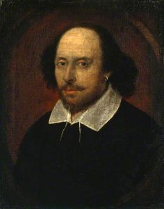 William Shakespeare by John Taylor. If anyone was the grand-master of riddles, codes and double meanings, it was Shakespeare.  He was a world leader in word-play. According to the Oxford English Dictionary, nearly 1,600 words appear for the first time in his plays, including 'ladybird' and 'eyeball'.  Dozens of common phrases – from 'wild-goose chase' to 'dead as a doornail' - are also attributed to him.  And he's believed to have made more than 400 puns for male and female private parts…