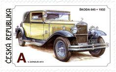 Známky: Václav Zapadlík - Czech Cars - Škoda 645 (1932) (Česká republika) (Historical Vehicles) Mi:CZ 779,Sn:CZ 3581,Sg:CZ 739,AFA:CZ 787,POF:CZ 780 Vintage Comic Books, Vintage Comics, Hq Holden, Holden Kingswood, Vintage Stamps, Stamp Collecting, Old Cars, Motor Car, Antique Cars