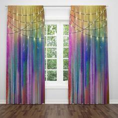 Boho Hippie Swirls Window Curtains – Folk N Funky Sheer Curtains, Window Curtains, Window Seats, Blackout Curtains, Valance, Hippie Bedding, Hippie Curtains, Northern Nights, Rainbow Kitchen