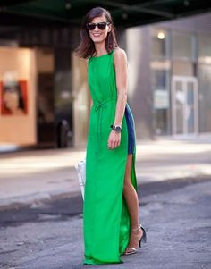 Vestido longo verde - estiloso.