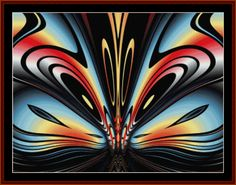 FR-225 - Fractal 225 - All cross stitch patterns - - Abstract - Fractals - Graphic Art - Whimsical - Cross Stitch Collectibles