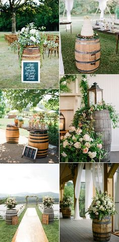 2017 trending wine barrel inspired country wedding ideas