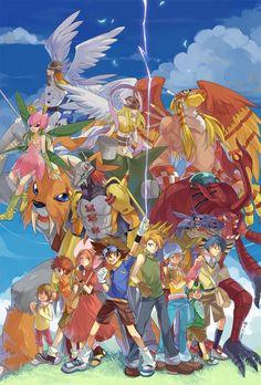 Digimon Adventure: The Original DigiDestined with Their Digimon's SuperDigivolutions