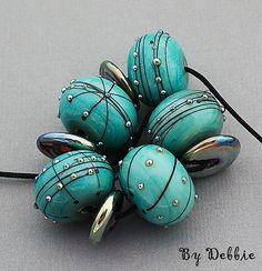 DSG-handgemachte Bio Murano Glas Perlen  Kupfer von debbiesanders