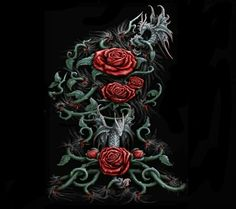 dragon et tete de mort tableau d art pinterest dragon. Black Bedroom Furniture Sets. Home Design Ideas